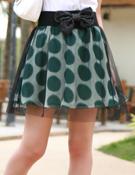 2010夏装-缤蔓-简洁印花网纱半裙