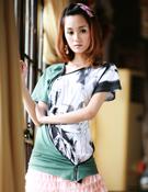 2010夏装-缤蔓-个性撞色T恤