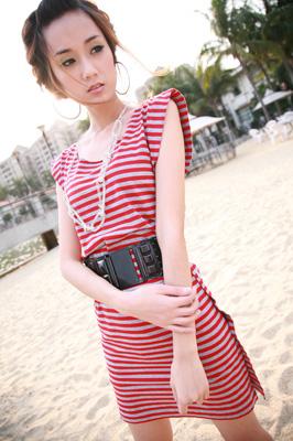 2010夏装-缤蔓-条纹长衫
