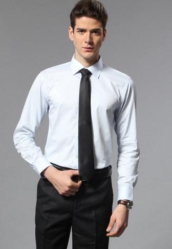 男士衬衫商务男装长袖衬衣
