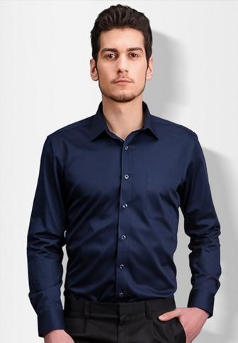 免烫衬衫男士长袖纯色工装