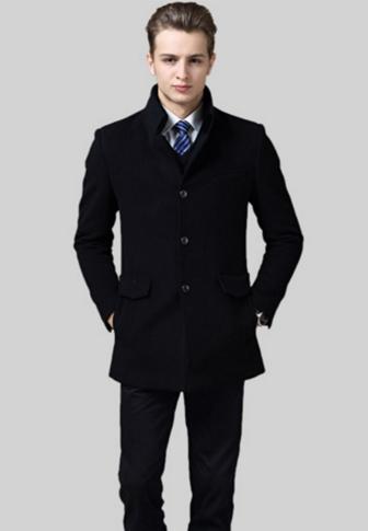 男装毛呢大衣冬新款男士中长款