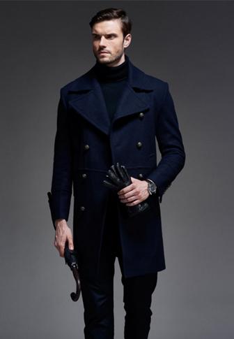 男士风衣长款外套羊毛呢大衣